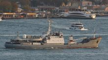 Russian navy ship sinks after crash with freighter in Black Sea near Turkey