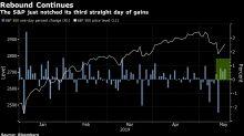 Acciones repuntan por tercer día, nuevas ganancias en el mercado