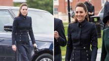 Duchess of Cambridge wears Alexander McQueen on tenth anniversary of designer's death