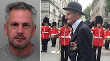 Burglar who attacked D-Day veteran, 96, with claw hammer leaving him for dead, given 20 year sentence