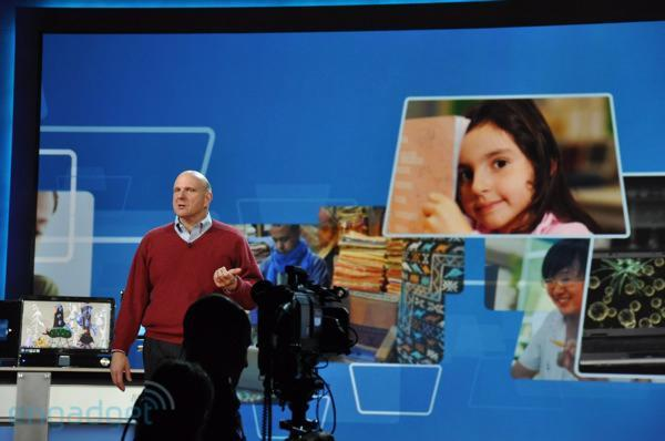 Live from Microsoft's CES 2012 keynote with Steve Ballmer!