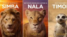 'The Lion King'posters roll out the stars of Disney's animal kingdom