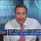 DOT asks inspector general to audit Boeing 737 Max certif...