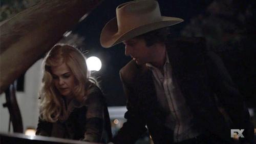 Keri Russell as Elizabeth Jennings and Matthew Rhys as Philip Jennings in FX's The Americans. (Screengrab: FX)