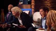 Richard Branson throws water at Mark Cuban after he calls entrepreneur a 'gold digger'