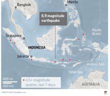 The Latest: Latest earthquake on Indonesian island kills 2