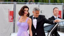 Amal Clooney channels Old Hollywood in Versace gown and faux bob