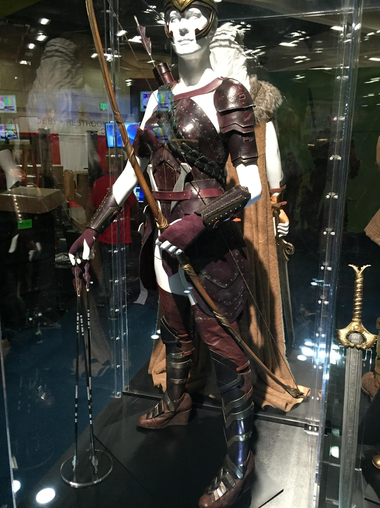 <p>This fierce Amazon (and Wonder Woman's aunt) has a fierce costume, complete with armor and knee-high boots. She also comes equipped with a bow and arrows.</p>