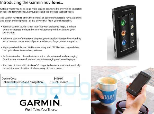 Garmin Nuvifone hitting AT&T for $500 plus?