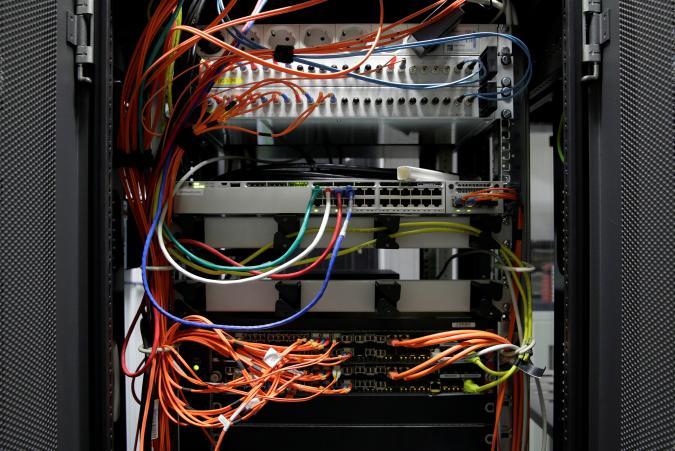 Computer network equipment is seen in a server room in Vienna, Austria, October 25, 2018. REUTERS/Heinz-Peter Bader