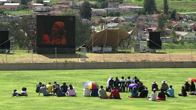South Africans watch Mandela funeral in stadiums