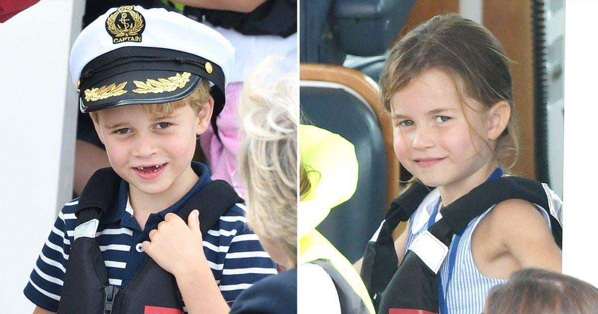 Prince George (in a Captain's Hat!) and Princess Charlotte Join