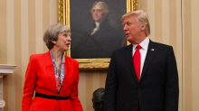 Trump tells Theresa May to 'focus on radical Islamic terrorism, not him' after Britain First retweets