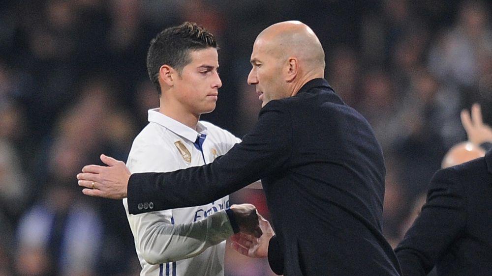 James sigue sin contar para Zidane en partidos importantes