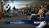 Midshipmen visit Whitfield Academy to pique interest in STEM