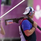 The Latest: Czechs win gold, silver in men's trap shooting