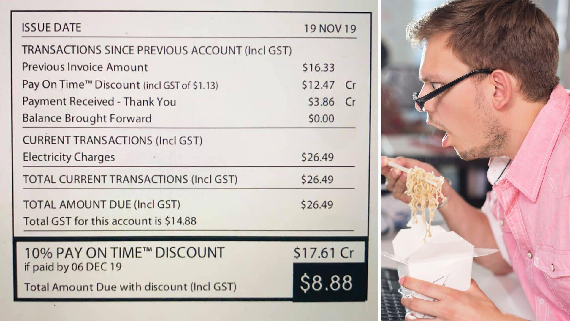 Man stuns internet with $8.88 electricity bill