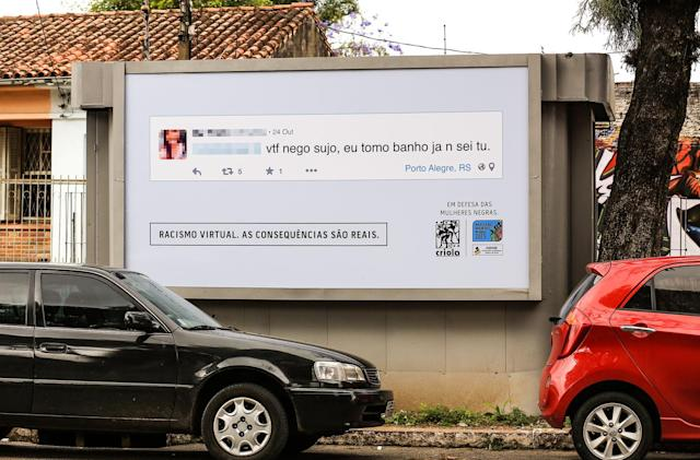Post a racist comment online, see it on a billboard near your house