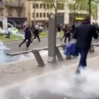 Police Fire Tear Gas at Banned Pro-Palestine Protest in Paris