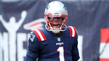 Cam Newton begins first Patriots game with a 'Bam' in golden pre-game outfit