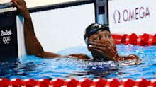 Simone Manuel takes silver medal in 50 freestyle, anchors winning 400 medley relay