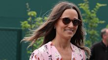 Pippa Middleton spotted out on a walk with toddling Arthur