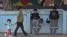 Policías se despliegan en la capital de Nicaragua el Día de los Derechos Humanos