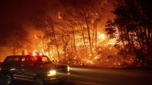 California wildfires chase people from homes into smoky air
