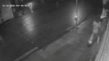 Shocking CCTV footage shows mean-spirited thief nicking Santa's boots