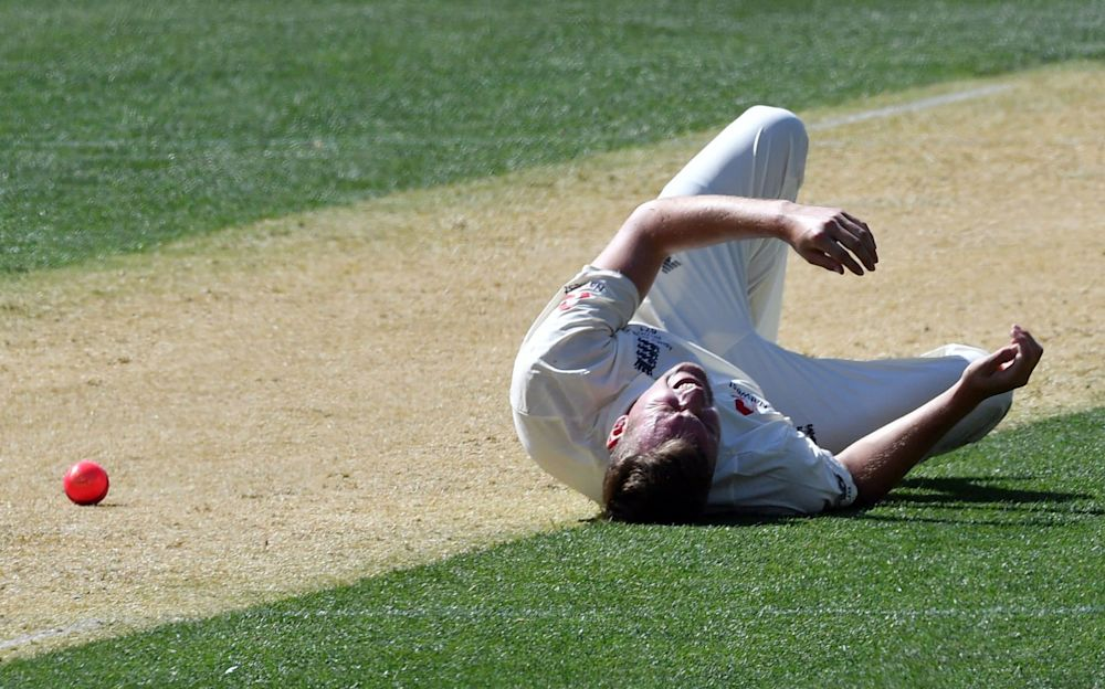 Jake Ball reacts after suffering the injury - AFP