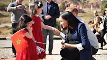 Meghan Markle shows off henna tattoo in sweet moment with little girls