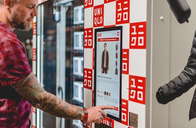 Skip the line and grab a Uniqlo jacket from a vending machine