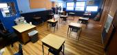 An empty classroom. (Getty Images)