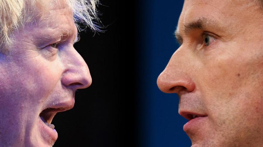 'Don't be a coward Boris': Hunt taunts rival
