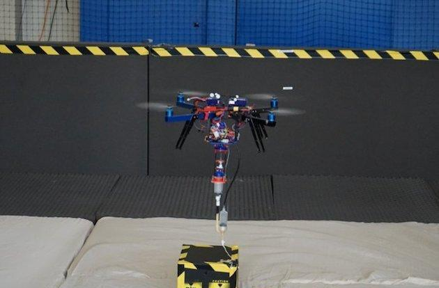 Flying drone can '3D print' with foam, help carry away hazardous objects