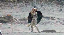 Angelina Jolie's Superhero Costume in 'The Eternals' Is Skintight & Metallic