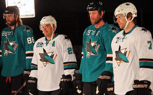 premium selection ad10c 6fe0e Pass or Fail: San Jose Sharks new home, away jerseys