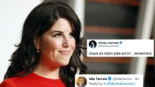 Monica Lewinsky Owns Twitter's 'I Have a Joke' Trend With Badass Quip on Being an Intern