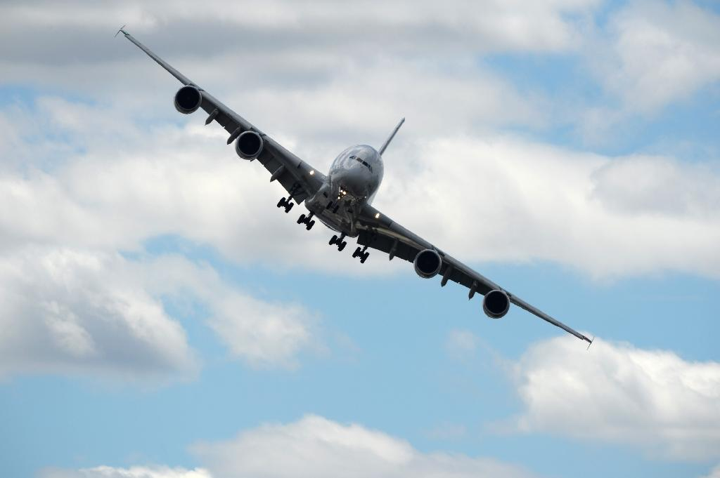 The Paris Air Show comes at a time of turbulence for the sector (AFP Photo/ERIC PIERMONT)