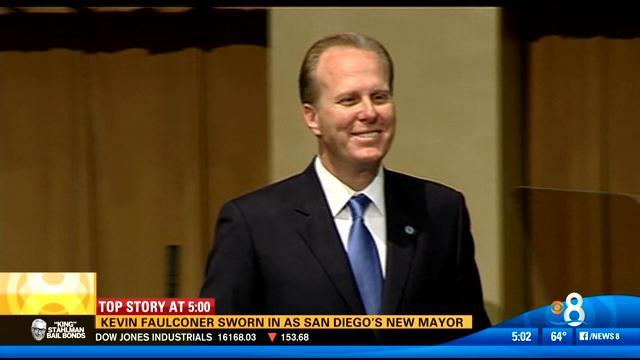 Faulconer sworn in as San Diego mayor