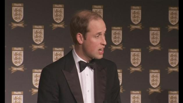 Prince William attends FA gala dinner