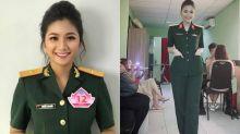 可帥可美!23歲越南軍官爆紅