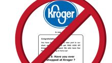 Kroger is warning customers that a $250 coupon making the rounds on social media is fake (KR)