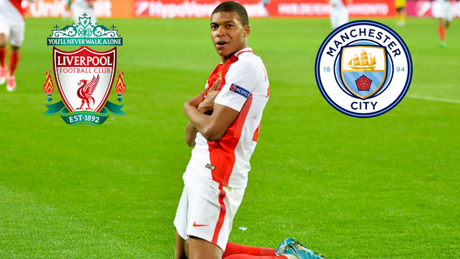 Gossip: Liverpool and Manchester City among four clubs who could sign Kylian Mbappe