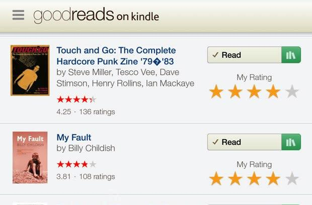 Goodreads on Kindle Fire OS (hands-on)