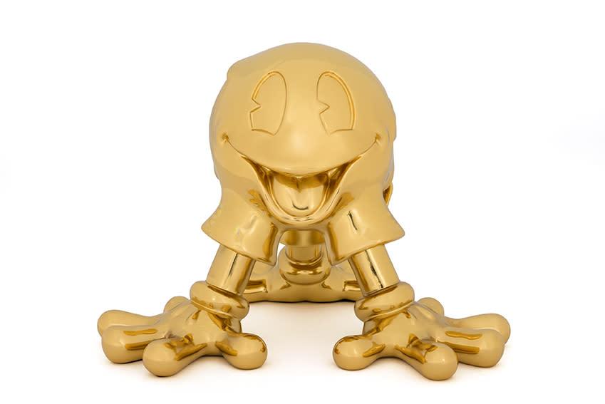'EGOJI' by Fidia Falaschetti - gold plated resin sculpture