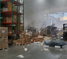 F-16 fighter jet crashes into warehouse near March Air Reserve Base in California