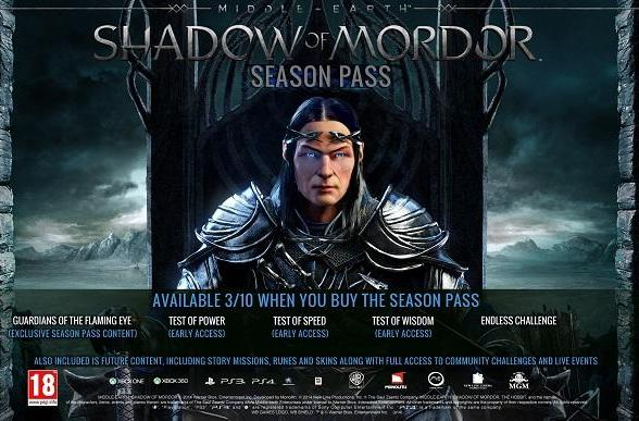 You shall use this season pass for Shadow of Mordor add-ons