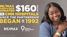 RE/MAX Donations to Children's Miracle Network Hospitals Cross $160 Million Mark