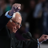 'The choice is not even close': Bernie Sanders praises Hillary Clinton in hopes of uniting the party
